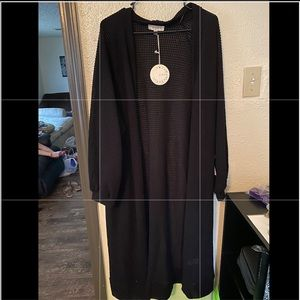 Umgee Black Long Cardigan